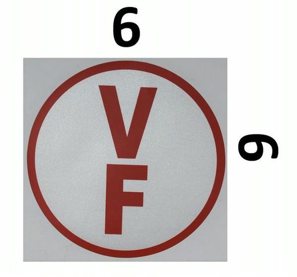 FLOOR TRUSS IDENTIFICATION Signage-TYPE V (STICKER)