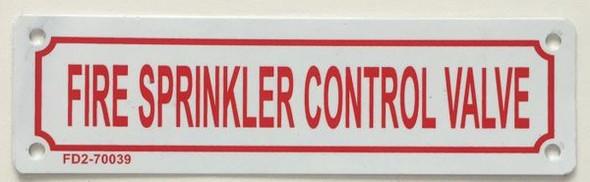FIRE SPRINKLER CONTROL VALVE Signage