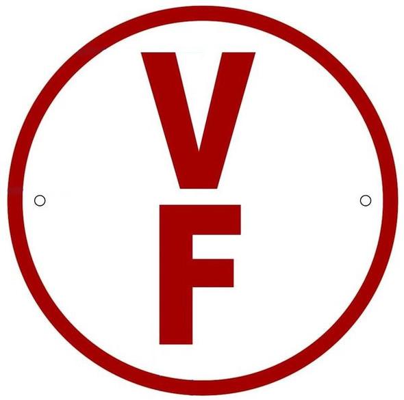 WHITE FLOOR TRUSS IDENTIFICATION SIGN-TYPE V