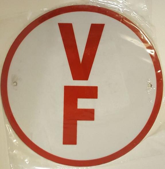 FLOOR TRUSS IDENTIFICATION SIGNAGE-TYPE V- REFLECTIVE !!! (ALUMINUM SIGNAGES) WHITE