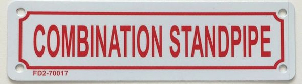 COMBINATION STANDPIPE SIGN for Building