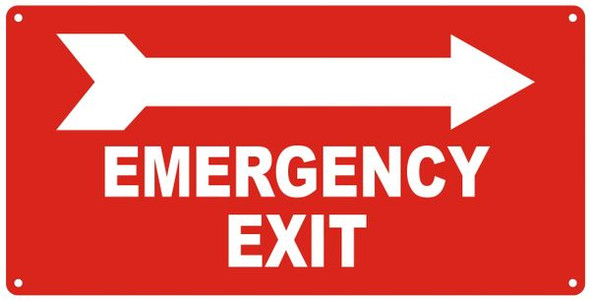 EMERGENCY EXIT RIGHT Sign