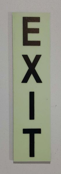Glow in dark Number EXIT sign