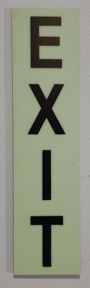 Glow in dark Number EXIT sign for Building