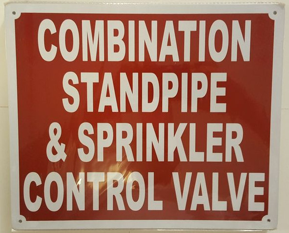 COMBINATION STANDPIPE AND SPRINKLER CONTROL VALVE Dob SIGN
