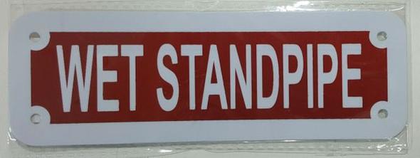 WET STANDPIPE Signage