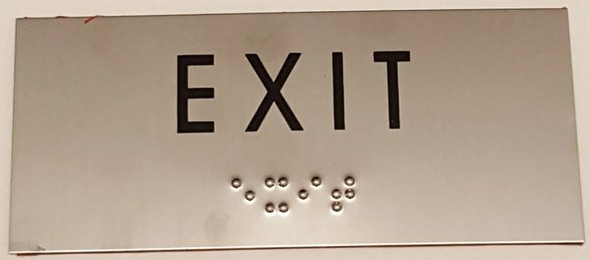 EXIT SIGN - STAINLESS STEEL SIGNS