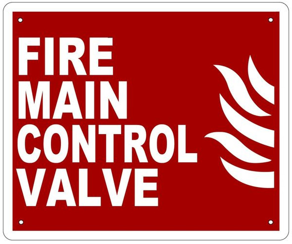 FIRE MAIN CONTROL VALVE Sign