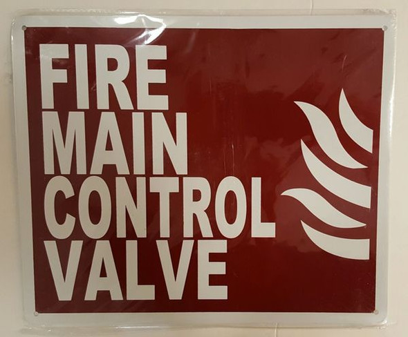 FIRE MAIN CONTROL VALVE SIGN for Building