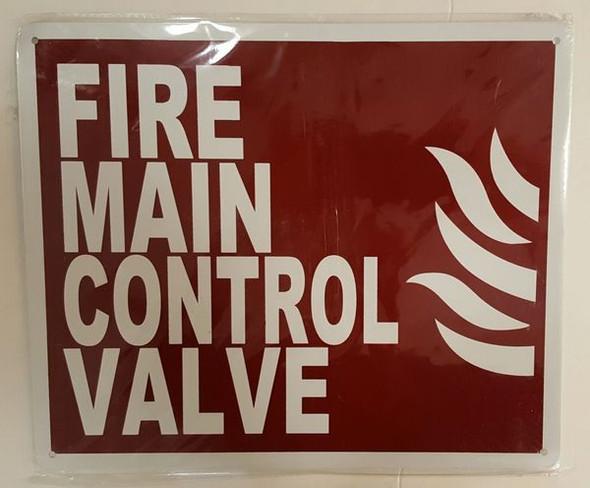 FIRE MAIN CONTROL VALVE Signage
