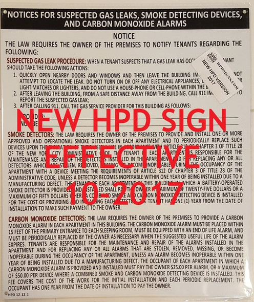 HPD required Signs Package