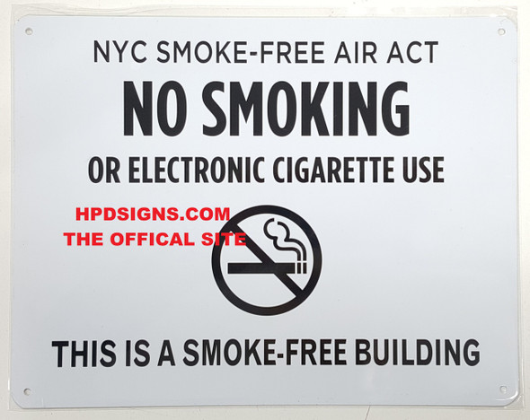 NO SMOKING OR ELECTRONIC CIGARETTE SIGN