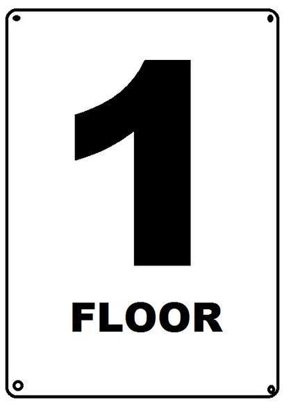 FLOOR NUMBER Signage - FLOOR 1