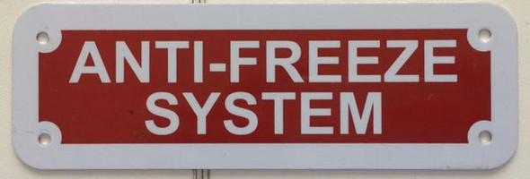ANTI-FREEZE SYSTEM Signage