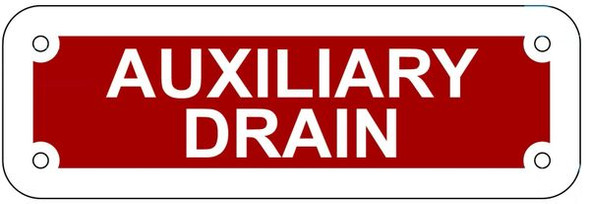 AUXILIARY DRAIN SIGN