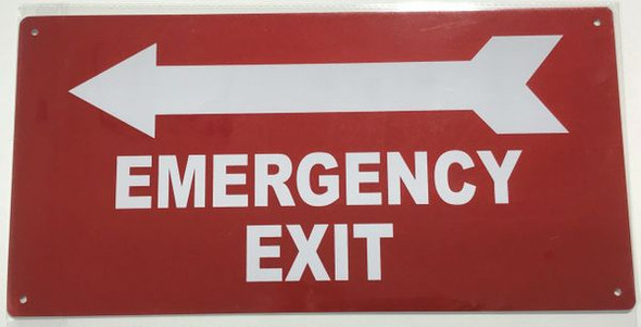 EMERGENCY EXIT LEFT SIGN for Building