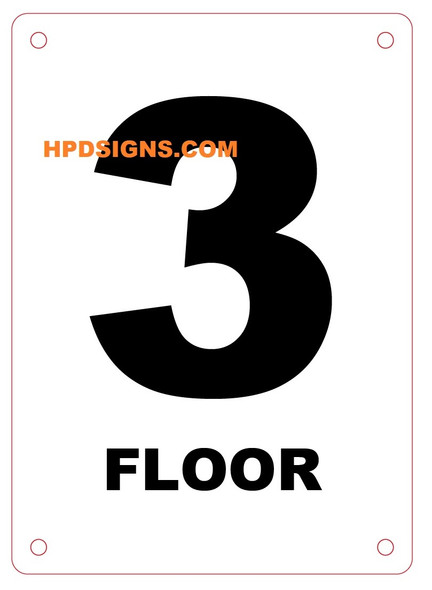 FLOOR NUMBER Sign - FLOOR