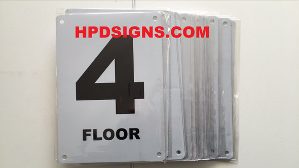FLOOR NUMBER Signage - FLOOR