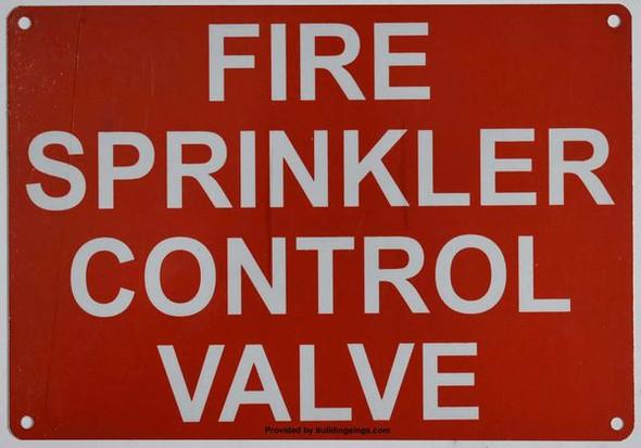 FIRE SPRINKLER CONTROL VALVE Dob SIGN