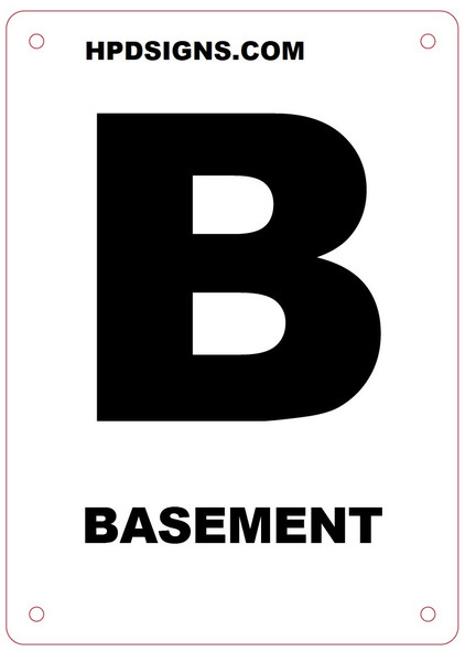 BASEMENT FLOOR SIGN