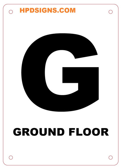 FLOOR NUMBER Sign -GROUND FLOOR