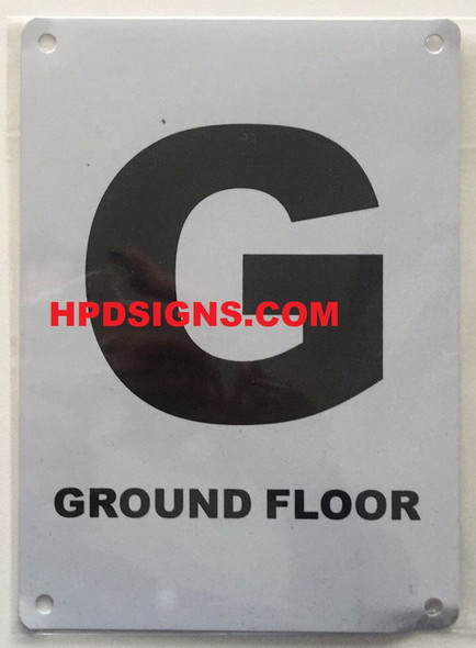 FLOOR NUMBER Signage -GROUND FLOOR