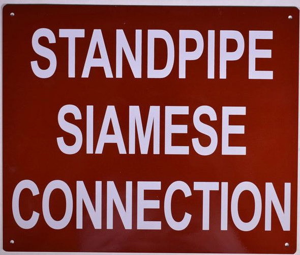 STANDPIPE SIAMESE CONNECTION Dob SIGN
