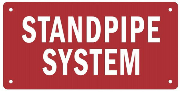 STANDPIPE SYSTEM Sign