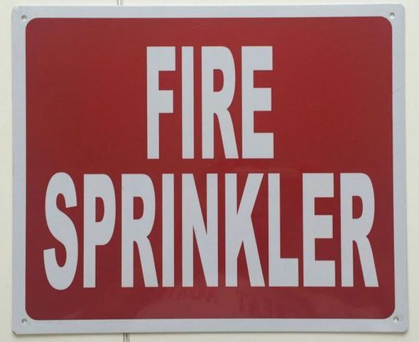 FIRE SPRINKLER SIGN for Building