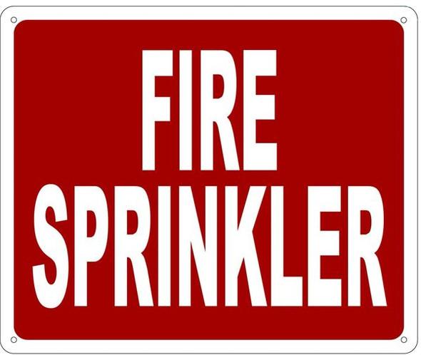 FIRE SPRINKLER SIGN
