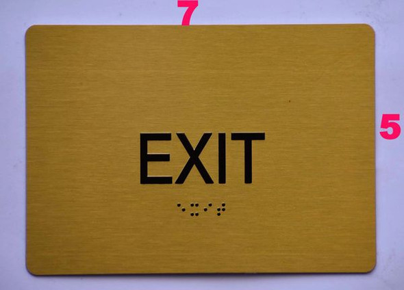 EXIT Sign -Tactile Signs Tactile Signs   Braille sign