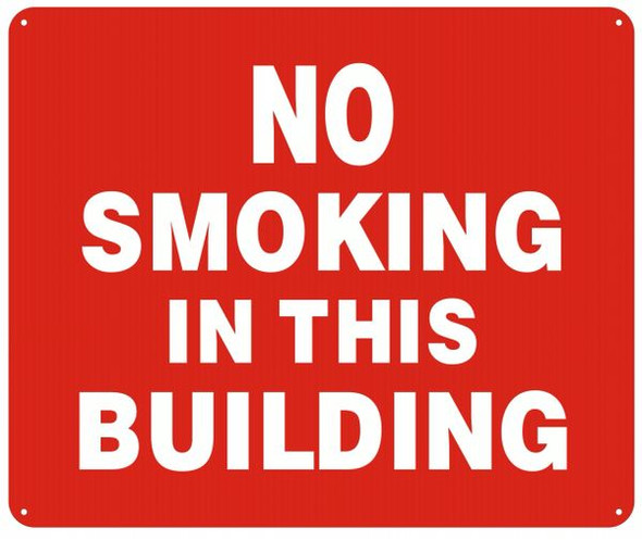 NO SMOKING IN THIS BUILDING SIGN