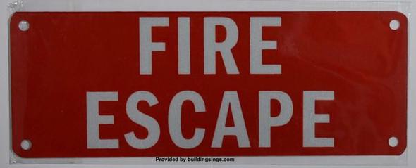 FIRE ESCAPE SIGN for Building