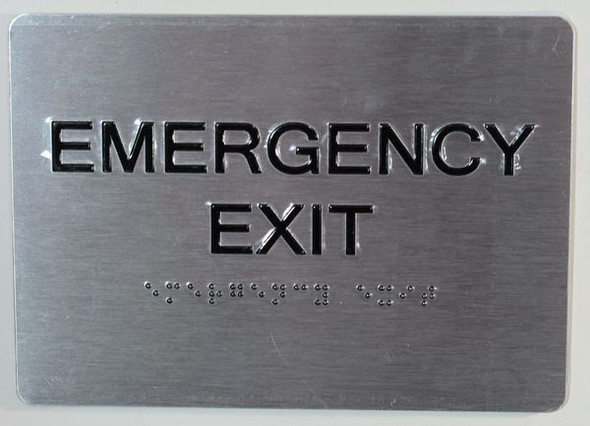 EMERGENCY EXIT Sign -Tactile Signs  BRAILLE  Ada sign