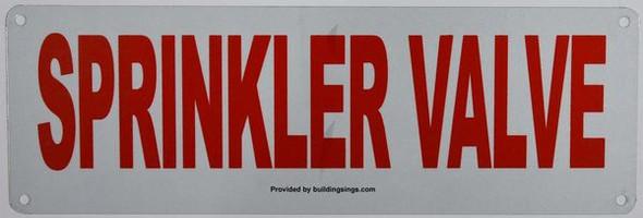 SPRINKLER VALVE SIGN for Building
