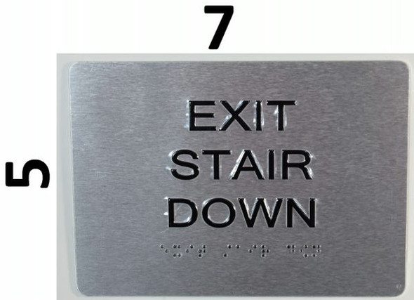EXIT STAIR DOWN SIGN  Tactile Signs   Braille sign