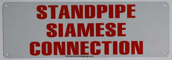 STANDPIPE SIAMESE CONNECTION HPD SIGN