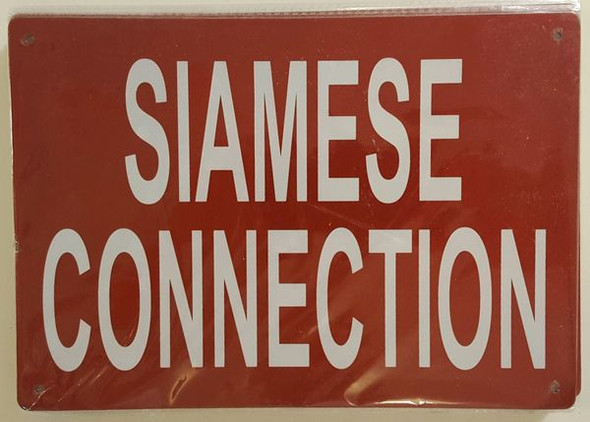 SIAMESE CONNECTION SIGN for Building