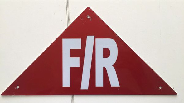 FLOOR AND ROOF TRUSS IDENTIFICATION SIGNAGE- REFLECTIVE !!! (ALUMINUM SIGNAGES ) (RED)
