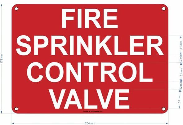 FIRE SPRINKLER CONTROL VALVE Hpd SIGN