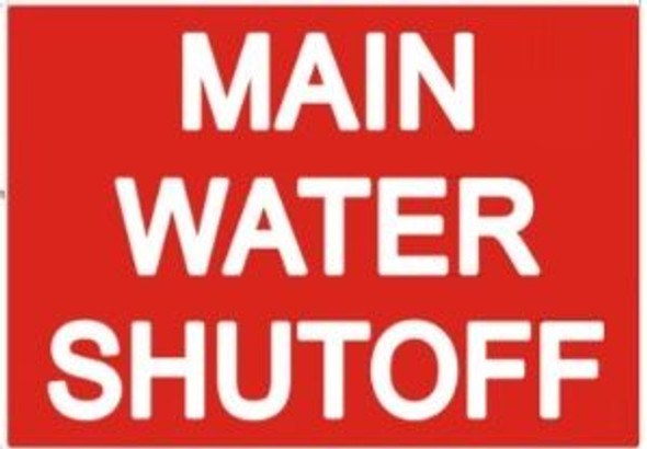 MAIN WATER SHUT-OFF SIGN