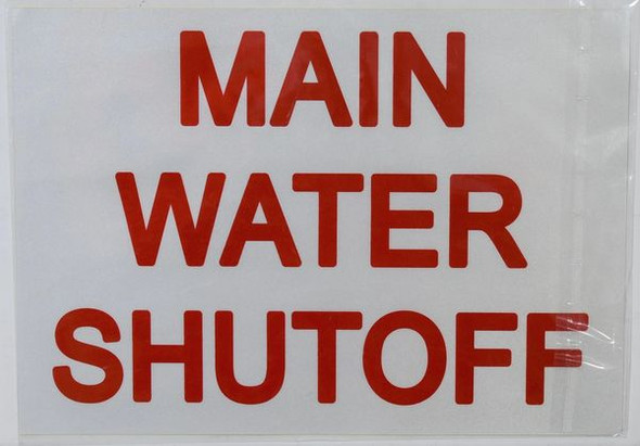 MAIN WATER SHUT-OFF SIGN for Building
