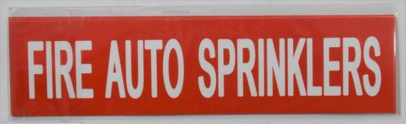 FIRE AUTO SPRINKLERS Signage (Sticker)