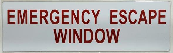 EMERGENCY ESCAPE WINDOW Signage-