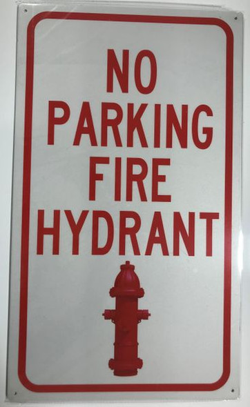 NO PARKING FIRE HYDRANT HPD SIGN