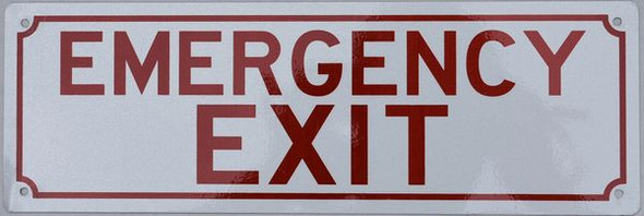 EMERGENCY EXIT HPD SIGN