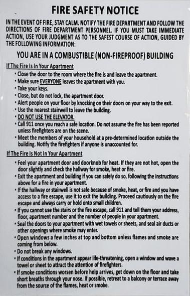 DOOR FIRE SAFETY NOTICE