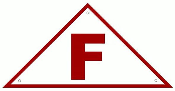 FLOOR TRUSS IDENTIFICATION SIGN- REFLECTIVE !!! (ALUMINUM SIGNS WHITE)