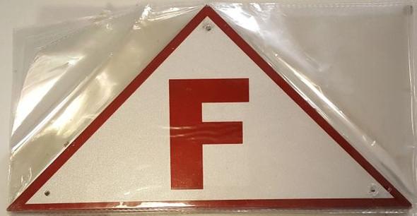 FLOOR TRUSS IDENTIFICATION SIGNAGE- REFLECTIVE !!! (ALUMINUM SIGNAGES WHITE)