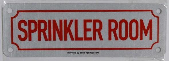 SPRINKLER ROOM SIGN for Building